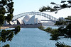 I like this view of the Opera House in front of the Harbor Bridge.